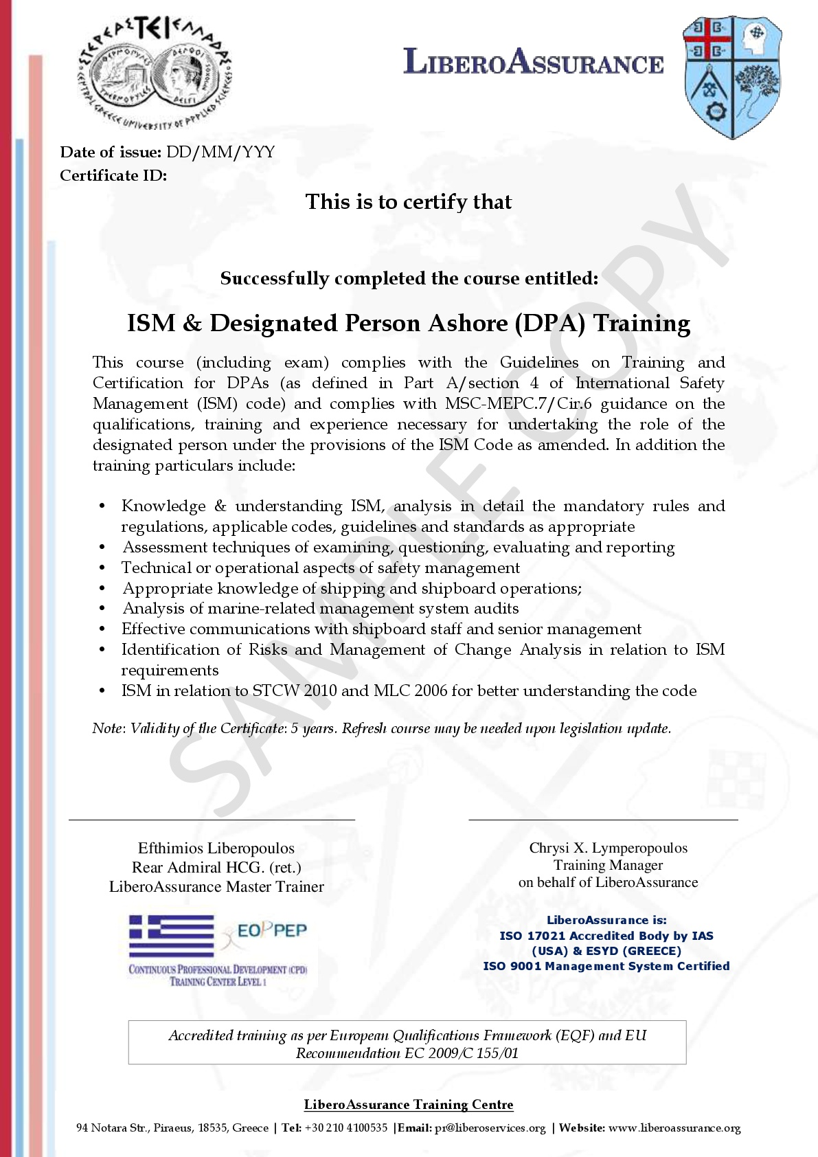 International Safety Management Ism Code And Designated Person