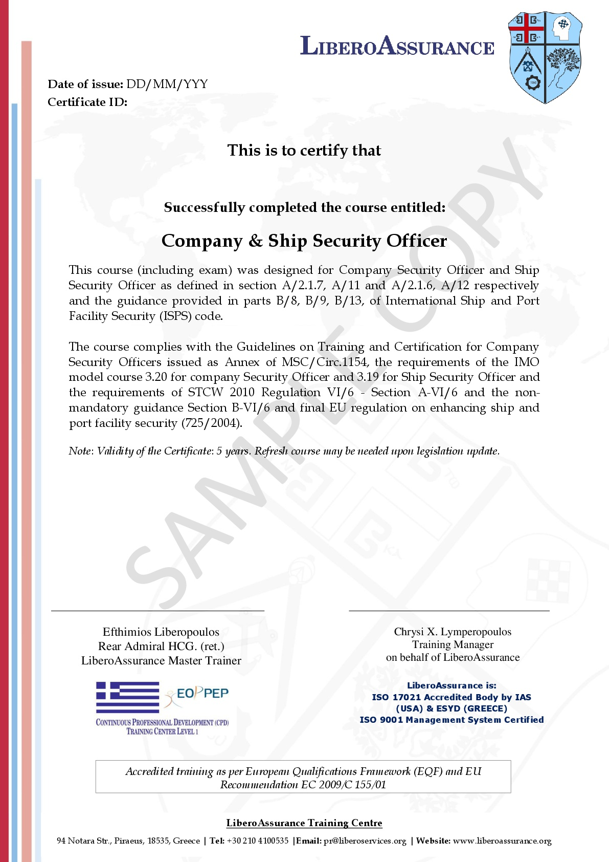 International Ship and Port Facility Security (ISPS) Code for
