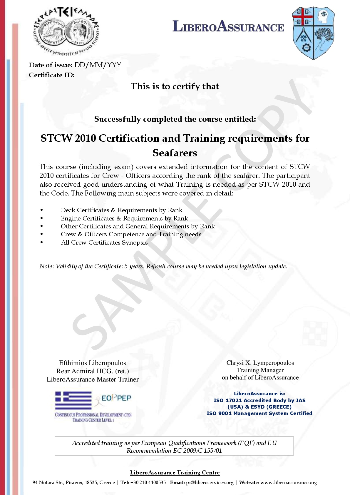 Stcw 2010 Certification Training Requirements For Seafarers