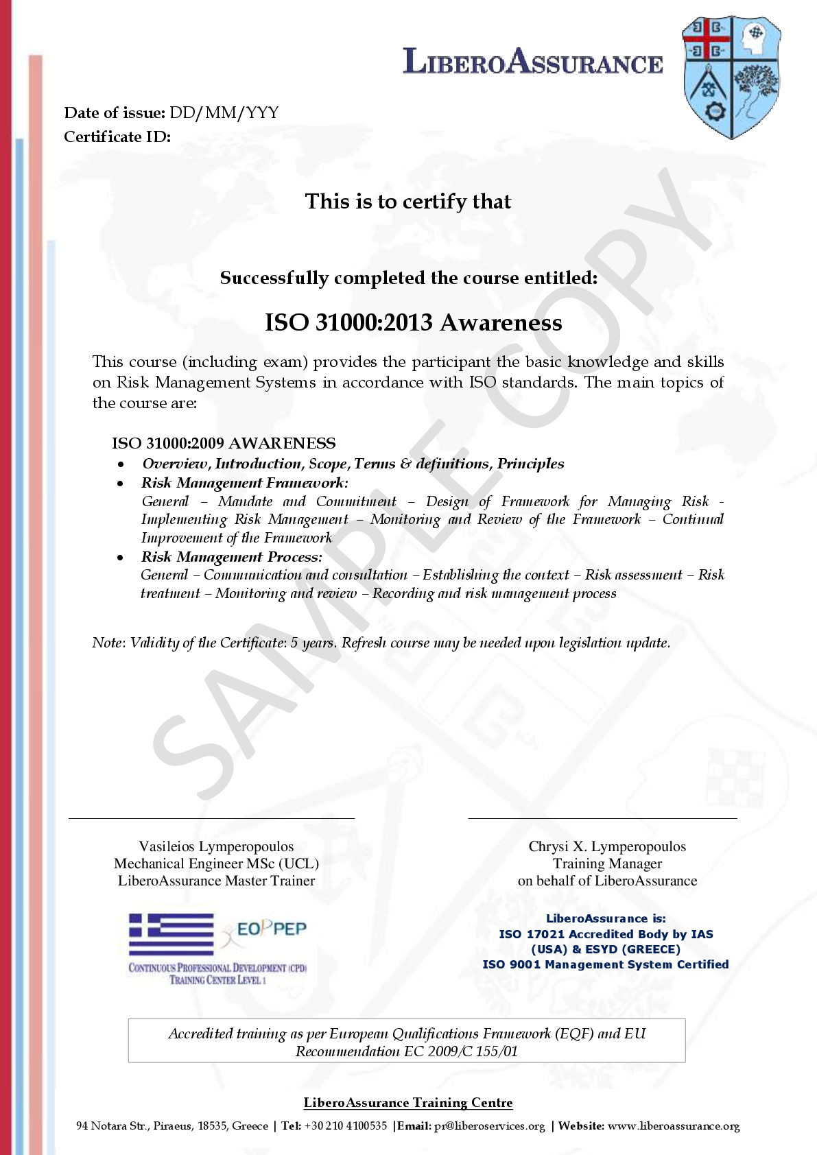 ISO 31000:2009 RMS Awareness - Libero Services